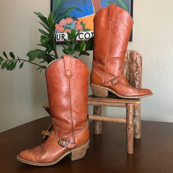 7081ebc7a3b {DINGO} Vintage Acme Brown Cowboy Boots